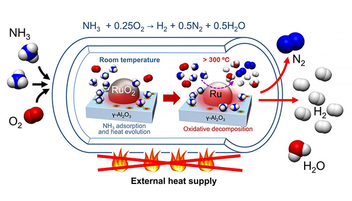 Hidrojen Üretimi İçin Kolay Bir Yöntemin Keşfi: Taşıyıcı Olarak Amonyak Kullanmak
