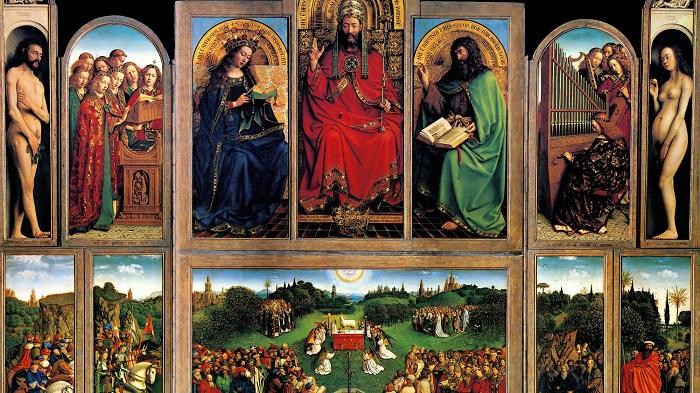 X Işını Floresanı Van Eyck'in Orijinal Renklerini Ortaya Koyuyor