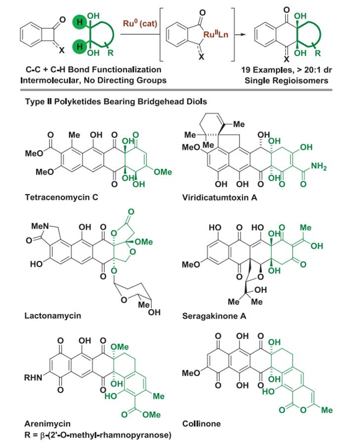 Metal ile Katalize Edilmiş Doymuş Karbonun C-C Bağlarına Eklenmesi: Sentez Tip II Poliketidler için Reaksiyon