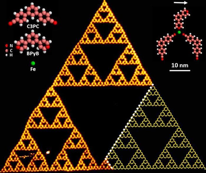 molekuller buyuk fraktal ucgenin icinde uretildi - Moleküller Büyük Fraktal Üçgenin İçinde Üretildi